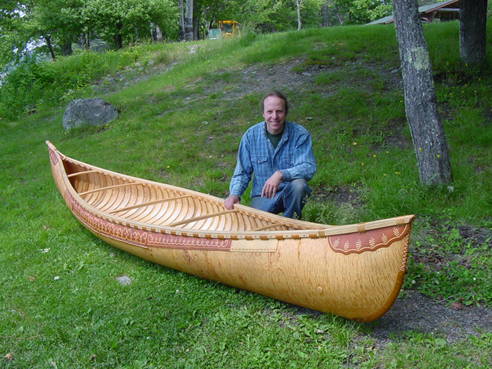 Canoe and builder