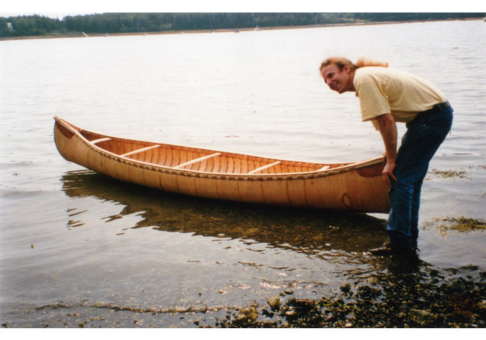 Steve Cayard and completed 14' workshop canoe