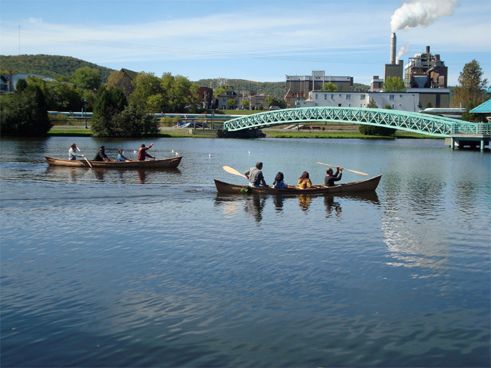 On the Madawaska River, Edmundston paper mill in the background, photo by David Moses Bridges.
