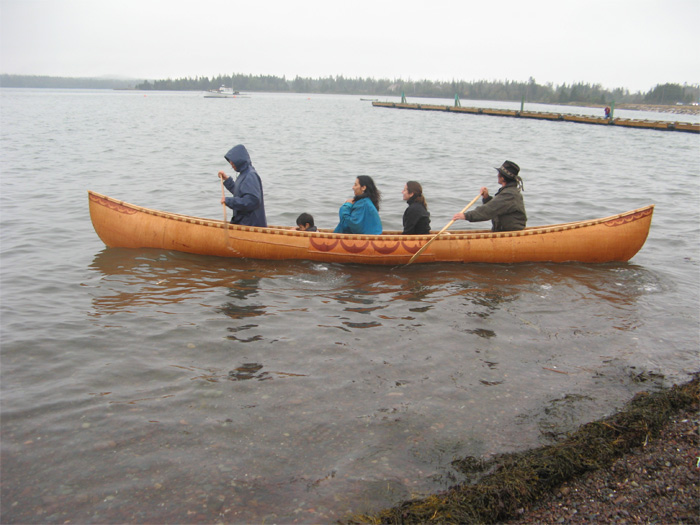 Launching on Passamaquoddy Bay, at Pleasant Point