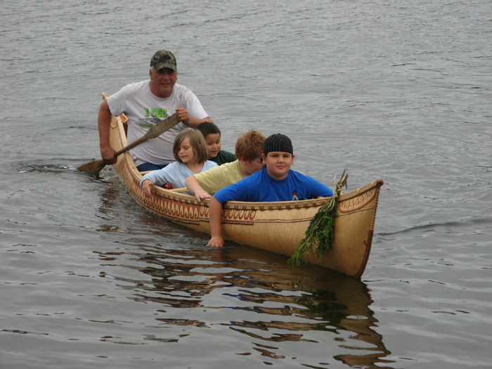 The next generation of canoe builders