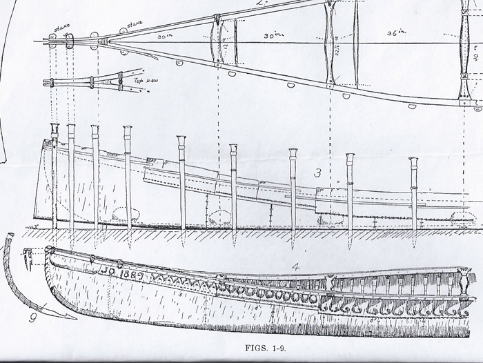 The canoe built by Peter Jo in 1889, drawing by Adney